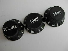60's Fender Stratocaster Reissue Guitar Black Knobs for Project / Repair