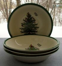Set for Four Spode Christmas Tree Ascot Cereal Bowls Mint and New with Tags