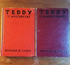 Teddy and the Mystery Parrot/Mystery Cat, 2 books, Howard R. Garis, (1937)