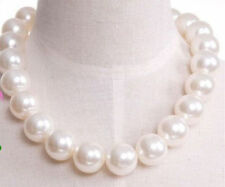 NEW Fashion beautiful Short 18mm big pearl clavicle necklace