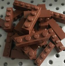 24 New Lego Bulk Lot 1x4 Brown Bricks Blocks 1 X 4