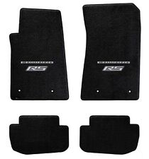 NEW! BLACK FLOOR MATS 2010-2015 Camaro Embroidered RS & Script Double Logo Set 4