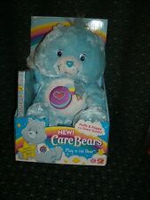 """Care Bear DVD 14"""" ~BLUEBERRY SCENTED~ PLAY-A-LOT BEAR * New In Box *2006* RARE *"""