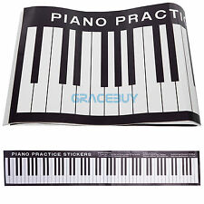 Piano Practice Sticker Musical Keyboard Decal Learn Note On Desk Exercises New