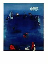 """1970 Vintage RAOUL DUFY """"THE MEDITERRANEAN"""" COLOR offset Lithograph"""