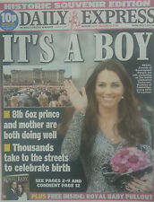 ROYAL BABY GEORGE.WILLIAM & KATE.THE EXPRESS SOUVENIR UK NEWSPAPER.JULY 23 NEW