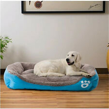 Large Pet Bed Cushion Mat Pad Dog Cat Cage Kennel Crate Warm Cozy Soft House