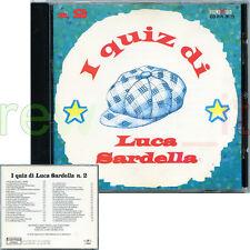 """LUCA SARDELLA """"I QUIZ DI LUCA SARDELLA N.2"""" RARO CD 1994 - FUORI CATALOGO"""