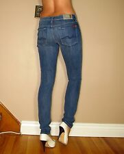 Seven 7 For All Mankind $189 Roxanne Skinny Gummy Jeans Heritage Medium 24 NWT