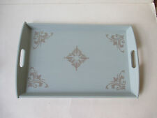 "Large Serving Tray Handpainted chalk paint  Shabby Chic 22"" x 14"" NEW"