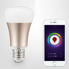 Wifi Gold LED E27 Cellphone Android IOS APP Control RGB Smart Bulb Light Lamp 5W