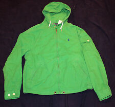 $145 BRAND NEW Polo RALPH LAUREN JACKET MEDIUM M cotton hood green men's spring
