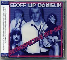Geoff LIP Danielik-gâcher 1978-81 CD JAPON press peroxydes alter ego pop