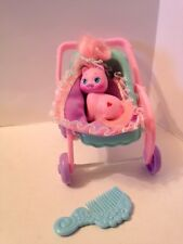 Vintage Mattel Little Pretty Kitties BABY KITTY STROLLER PLAYSET Pink Heart