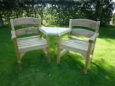 Garden Seat/Bench COMPANION SEAT (2nd Quality item)  Del easily arranged