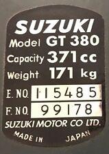 SUZUKI GT380 HEADSTOCK FRAME RESTORATION DECAL