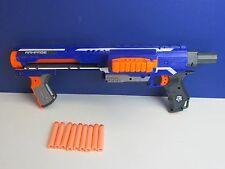 large NERF RAMPAGE GUN SET LOT inc darts toy working N STRIKE rapid fire 665