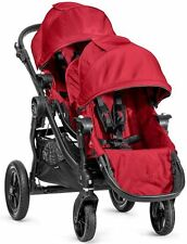 2015 Baby Jogger City Select Twin Tandem Double Stroller Red w/ Second Seat
