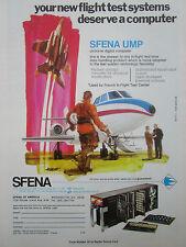 4/1977 PUB SFENA VELIZY UMP AIRBORNE DIGITAL COMPUTER FLIGHT TEST ORIGINAL AD