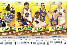 2014 GOLDEN STATE WARRIORS PLAYOFFS SEASON TICKET STUB SET 16 GAMES CURRY BOGUT