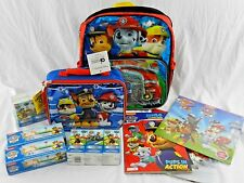 "New Paw Patrol 14"" Firetruck Backpack w/ Lunch Box & More Folder Calendar Bags"