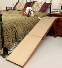 solvit cherry stain Wood Bedside or couch dog cat Ramp Pet stair alternative