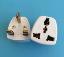2xUniversal Power Adapter Converter Wall Plug England Ireland Singapore Hongkong