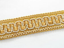 Gold chair braid 2.5cm wide Fabric edge trimming for upholstery craft. PER METRE