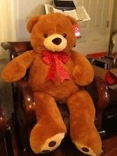 "52"" Plush Planet JUMBO BIG GIANT TEDDY BEAR STUFFED ANIMAL BROWN NEW"