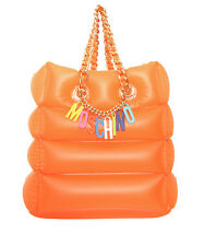 MOSCHINO Jeremy Scott Letters Inflatable Barbie  Shoulder Orange CHARMS Handbag