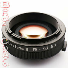 Zhongyi Focal Reducer Booster Lens Turbo II Canon FD to Sony E Adapter NEX-7 5T