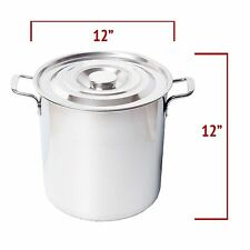 Home Brewing Stainless Steel 20L 5.28 Gallon Brew Boil Kettle Pot with Lid