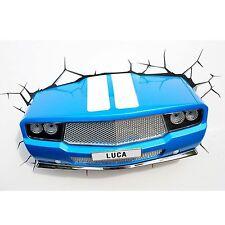 Blue classic car 3D led mur lumière chambre enfants nouveau nightlight (gratuit p + p)