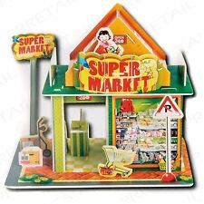 Make Your Own 3D Super Market ~NO GLUE REQUIRED~ Children's Craft Activity Game