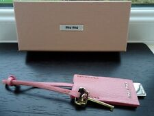 100% Authentic PRADA/Miu Miu Pink Leather Lipstick Mirror Keyring / Bag Charm BN