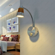 5W LED Wall Fixture Picture Light Reading Lamp Flexible Pipe Button Bedroom Shop