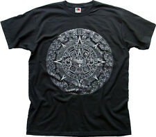 mayan aztec mythical calendar 2012 doomsday black cotton tee t-shirt 0109