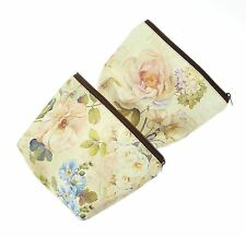 Floral Design Make Up Bag With Zip Fastening - ONE AT RANDOM