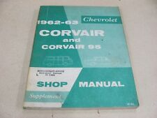 Original 62 63 Corvair ST-20 ST20 Shop Manual Supplement Instructions 1962 1963