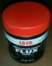 LA-CO Laco 125g Regular Soldering Flux Paste Tub