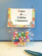 Dollhouse Miniature 24Pc. Colorful Easter Eggs : G231