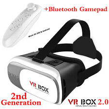 3D Glasses VR Box Headset Google Cardboard Virtual Reality +Bluetooth Control