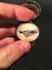 Beautiful Art Deco Platinum Diamond Solitaire Engagement Ring Stunning Piece