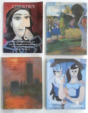 4 Christie's Art Auction Catalogs Impressionist & Modern w/ Painting (s) 1989-98