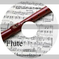 Massive Professional Flute Sheet Music Collection Archive Library on DVD