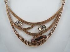 Robert Lee Morris gold tone~crystal bib necklace, NWT