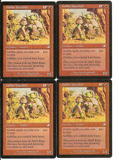 mtg Magic 4x Goblin Warchief ( Jefe de guerra trasgo ) English PLAYED