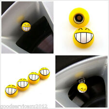 4 Pcs One Set Teeth Smile Expression Car SUV Wheel Tyre Dust Caps For Land Rover
