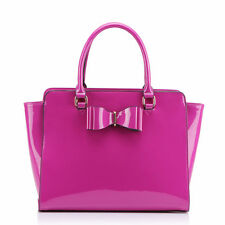 Ladies Fashion Patent BowTote Handbag Women's Handbags Quality Celebrity Bags 84