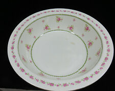 Circa 1890's J H Weatherby ENGLAND Large Wash Basin / Serving Bowl  Pink Roses